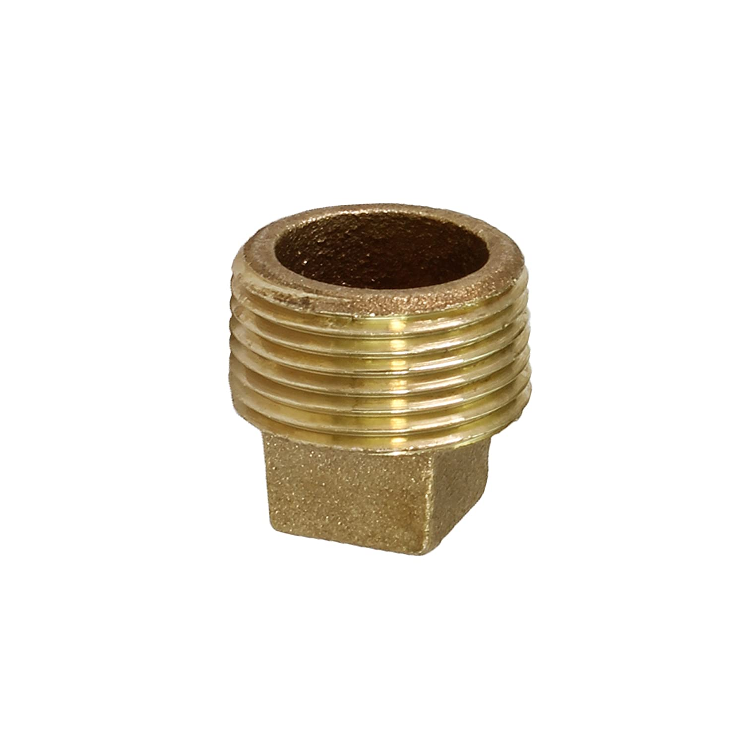 Everflow BRSP0114-NL 1-1//4-Inch Male National Pipe Taper Threads Brass Solid Plug with Square Head Higher Corrosion Resistance Economical /& Easy to Install Lead Free Brass Pipe Fitting