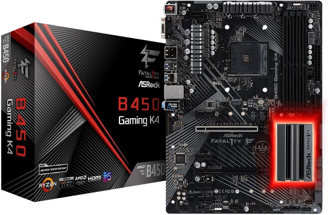 ASRock ATX Motherboard (B450 Gaming K4)
