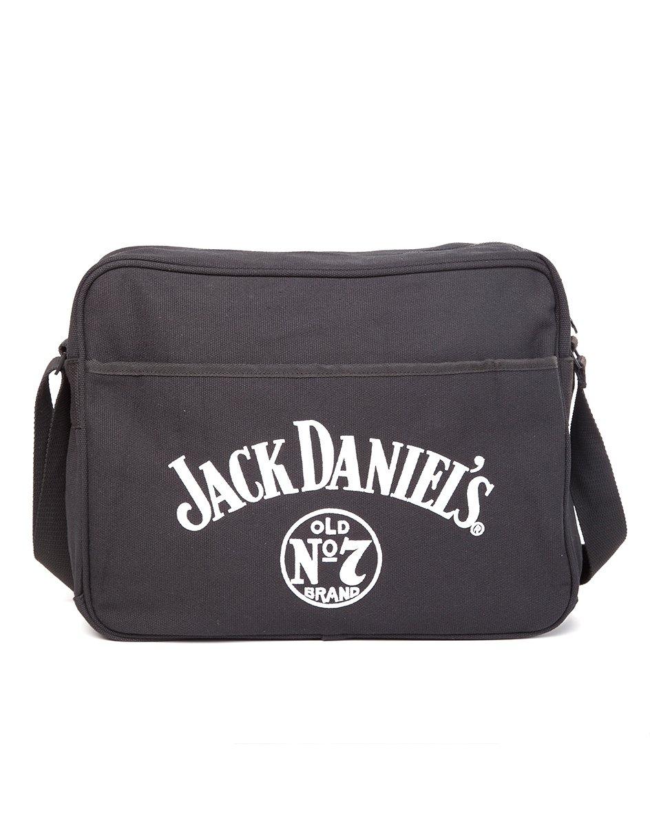Jack Daniel's Large Old No.7 Unisex Canvas Messenger Bag One Size Bla MB141117JDS