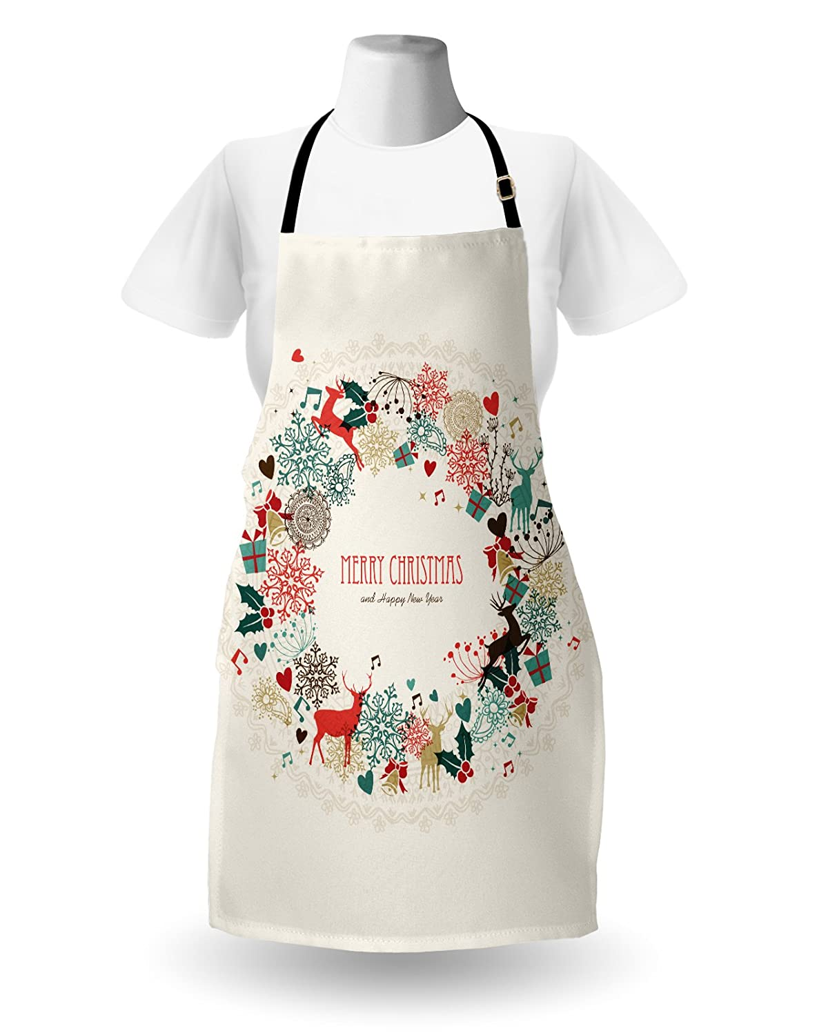 Sleeping Mermaid Design with Wavy Hair Hand Drawn Effect Grungy Backdrop Pale Blue Dark Teal Ambesonne Mermaid Apron Unisex Kitchen Bib Apron with Adjustable Neck for Cooking Baking Gardening