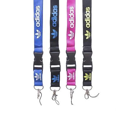 Correa de cuello con clip de metal, de Adidas, resistente, con soporte para tarjeta de identificación o llaves