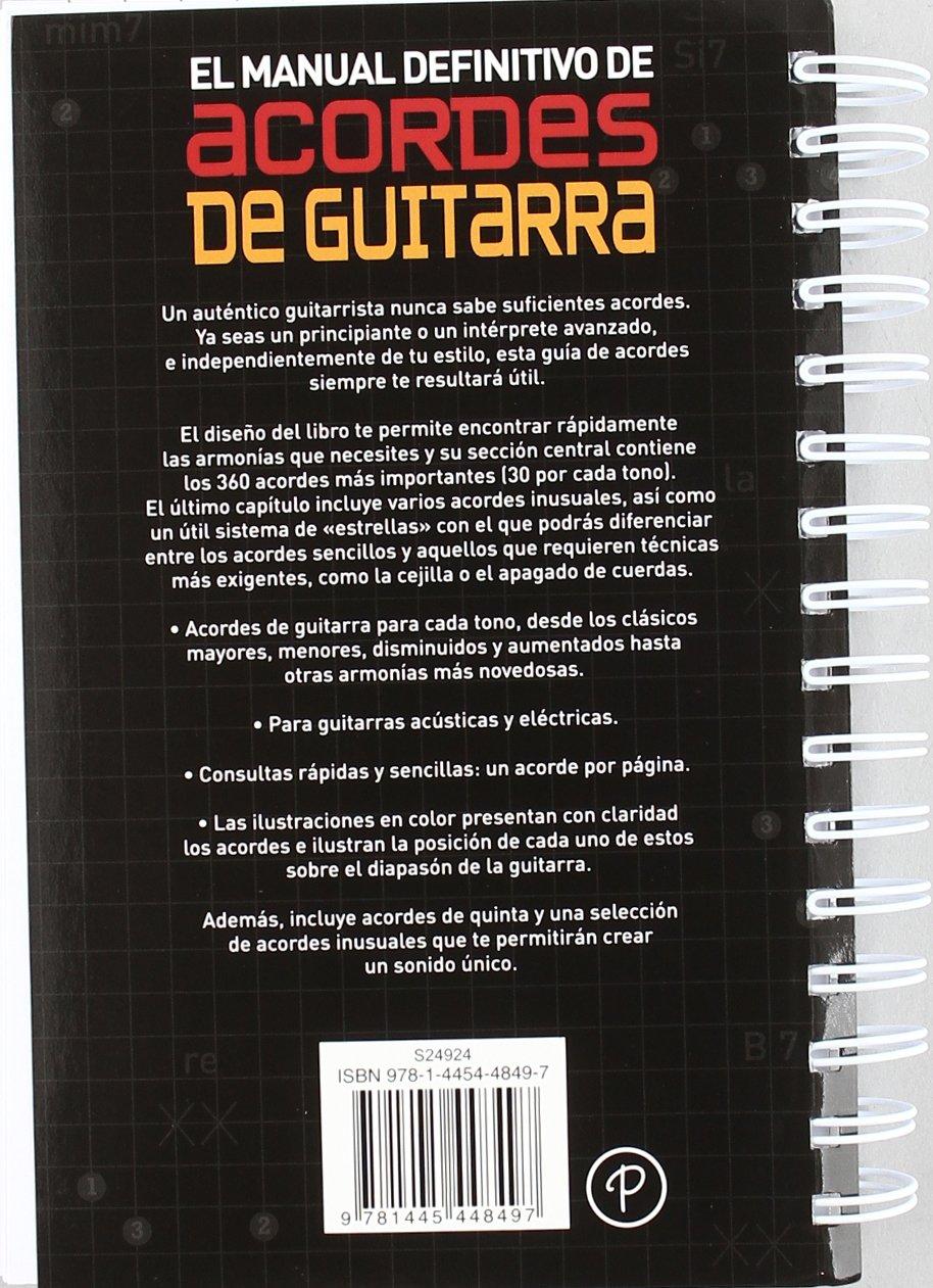 MANUAL ACORDES DE GUITARRA-PARRAGON: 9781445448497: Amazon.com: Books