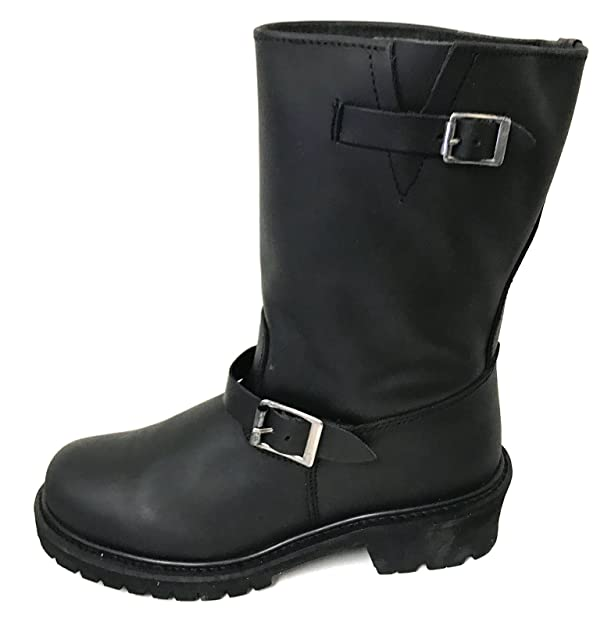 45ae9df7b65a8 L1B005S Men's Engineer Boots Motorcycle Classic Harness Genuine Leather 12