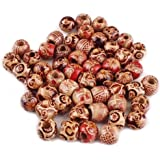 Bluelans® Approx. 100pcs 10mm Assorted Colour Round Wooden Beads for Jewelry Making Loose Spacer Charms