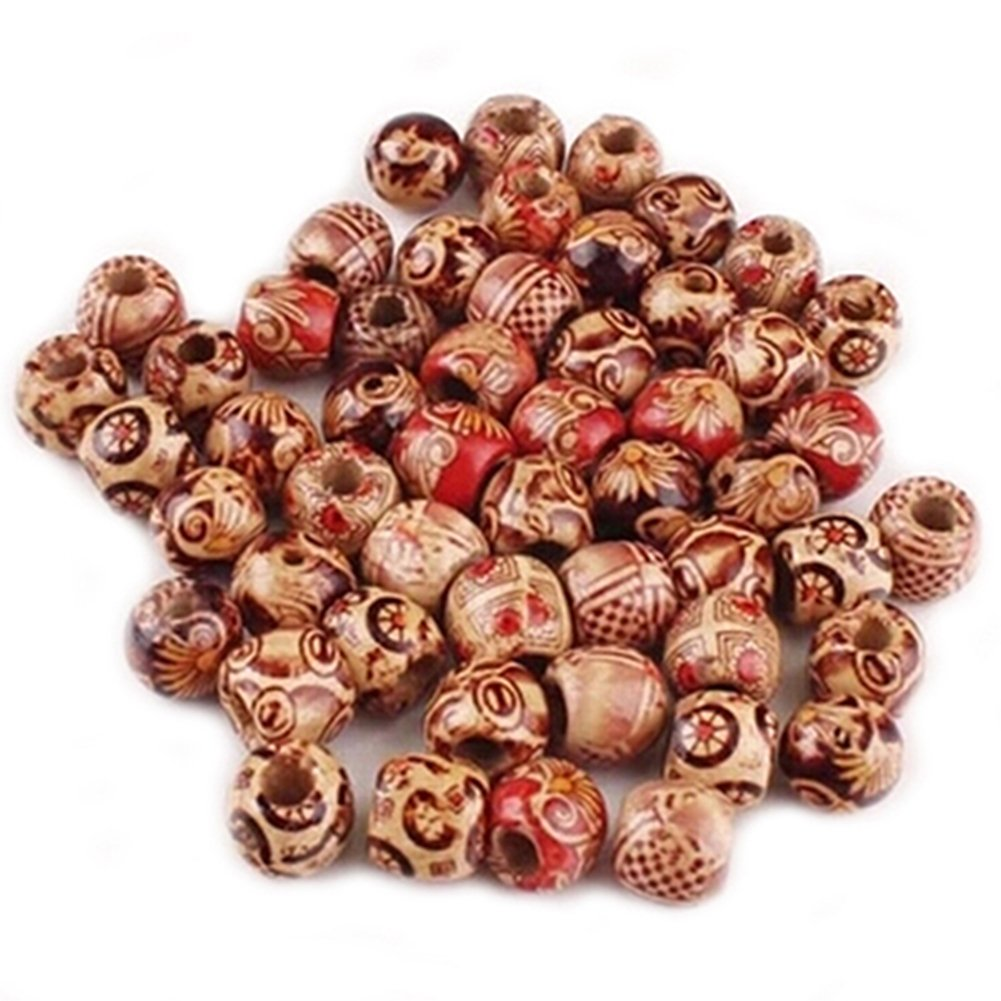 Bluelans® Approx. 100pcs 10mm Assorted Colour Round Wooden Beads for Jewelry Making Loose Spacer Charms Broadfashion