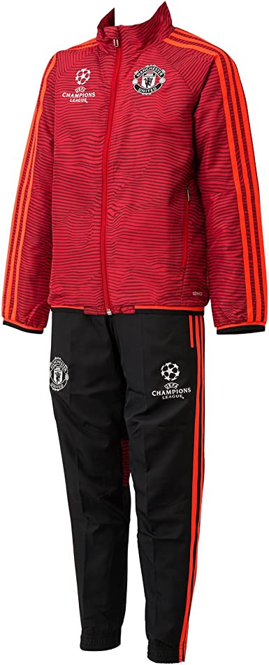adidas MUFC Eupresuity - Sudadera para niño, Color Rojo/Negro ...