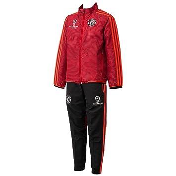 Détails sur Manchester United Adidas CHAMPIONS LEAGUE Veste grise et noire Taille L TBE