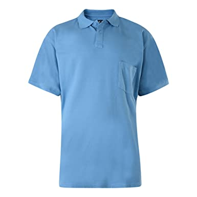 dd961558f54ea0 Kam New Big Mens King Sizes Basic Plain Polo Neck T-Shirt Tee 2XL 3XL 4XL  5XL 6XL 7XL 8XL  Amazon.co.uk  Clothing