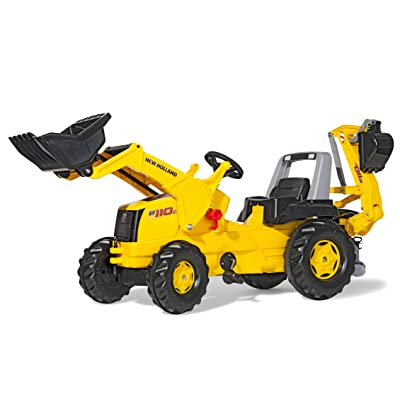 Rolly Toys New Holland Tractor with Front Loader and Backhoe Digger: Toys & Games