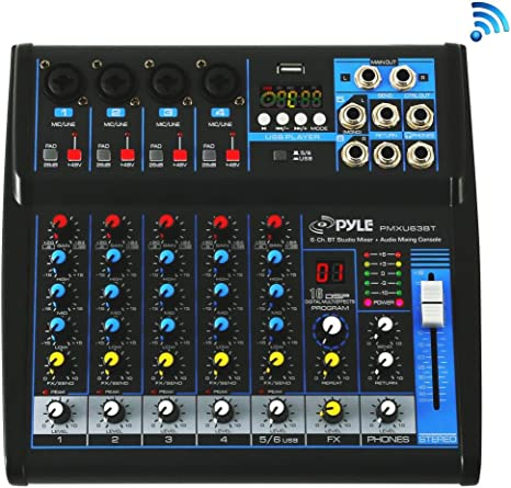 Amazon.com: Pyle - Consola mezcladora de audio profesional ...