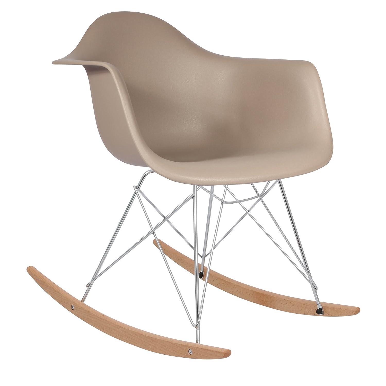 * nuova versione alta * 1950S Inspired designer sedia a dondolo–Warm Grey–Sedia.Mobili® Chair.Furniture®