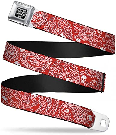 Buckle-Down Seatbelt Belt 1.5 Wide 24-38 Inches in Length FREE HUGS White//Multi Color