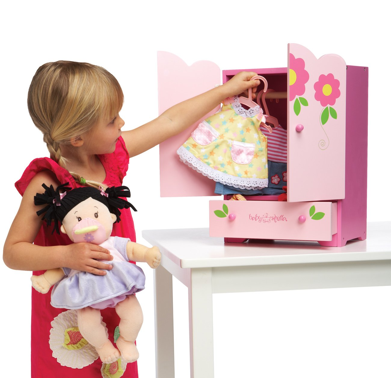 Amazon.com: Manhattan Toy Baby Stella Tickled Pink Armoire For Nurturing  Dolls: Toys U0026 Games
