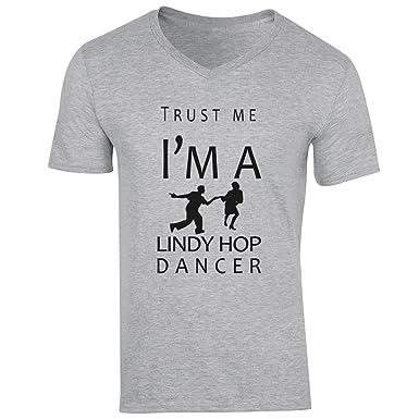 c6cd8ffda1198 Trust Me I m A Lindy Hop Dancer XXL Hommes V-Neck  Amazon.fr ...