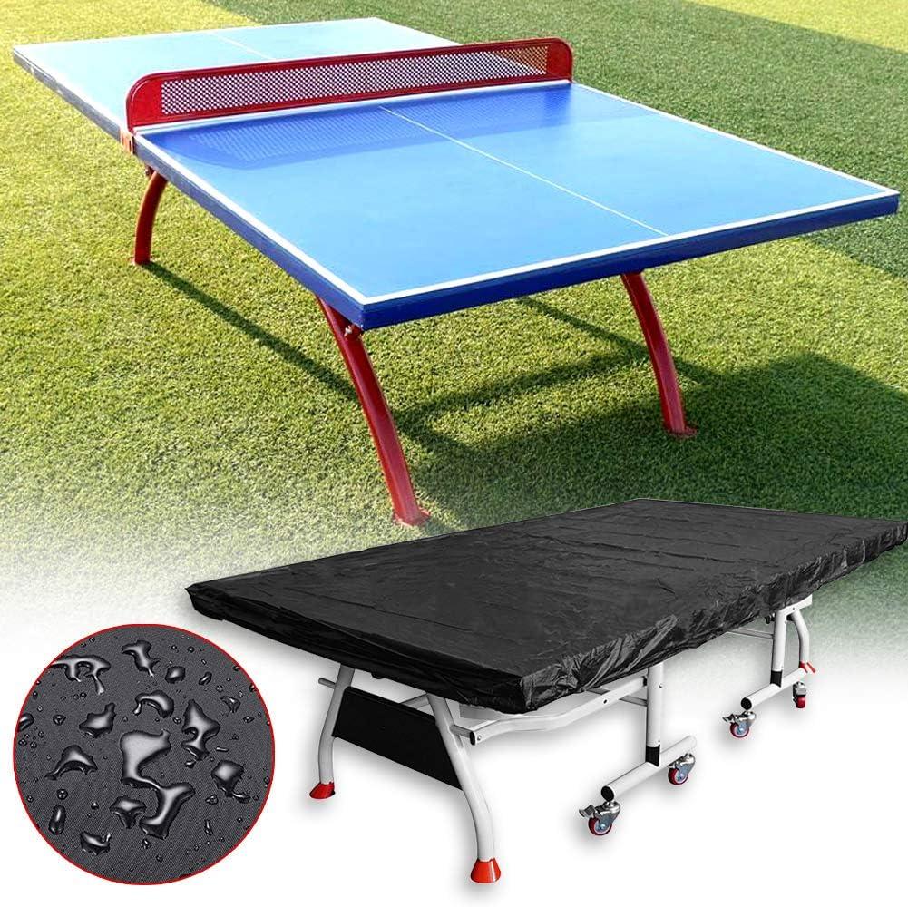 HONGY - Funda para Mesa de Ping Pong de poliéster Transpirable, Plegable, para Interior y Exterior, a Prueba de Polvo, Resistente al Sol, Gamuza Protectora