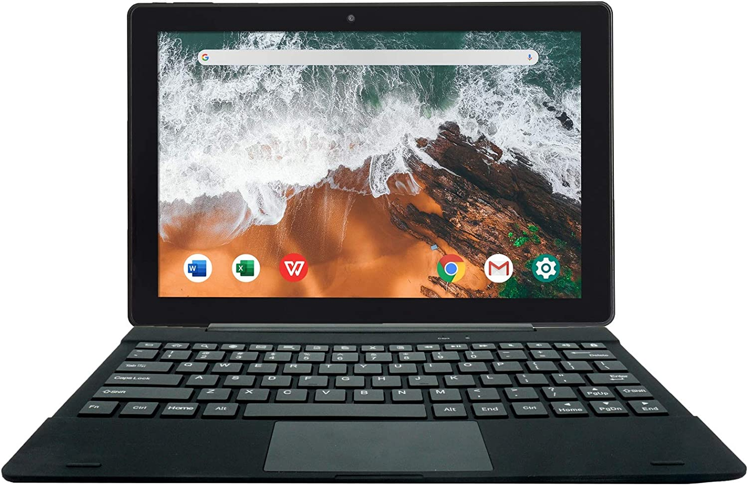 Simbans TangoTab 10 Inch Tablet and Keyboard 2-in-1 Laptop, 4 GB RAM, 64 GB Disk, Android 10, Mini-HDMI, Micro-USB, USB-A, Inbuilt GPS, Dual WiFi, Bluetooth Computer PC -TX4L