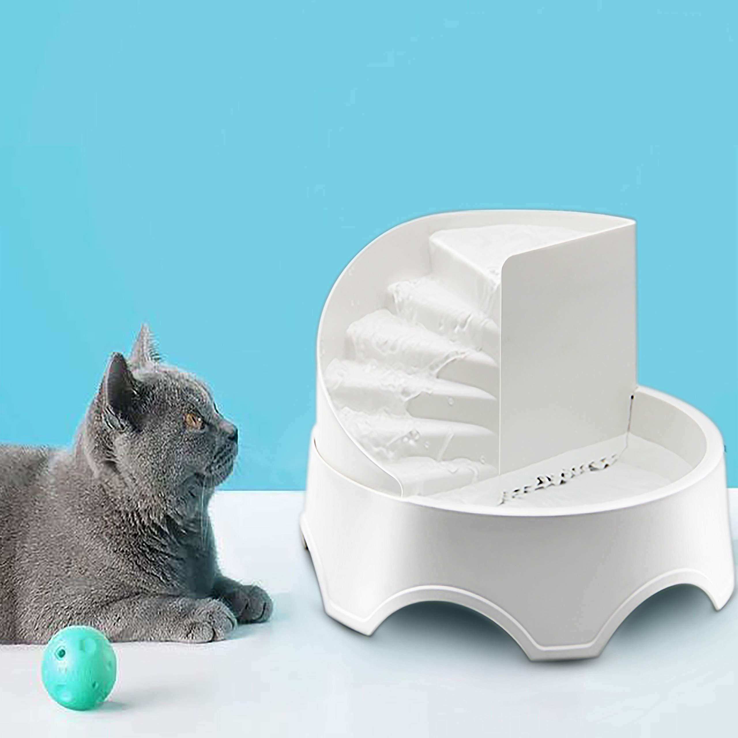 Luluhome Pet Fountain, 1.5L Automatic Cat Water Fountain Dog Water Dispenser, Filtered Water for Dog, Cat, Small Animals by Lulu Home