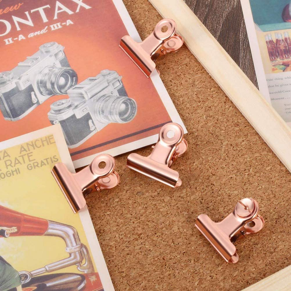 School and Home Supplies 80 PCS Paper Clips+14 PCS Binder Clips +6 PCS Metal Clips for Office kuou 500 PCS Rose Gold Office Stationery 300 PCS Map Pins+100 PCS Transparent Push Pins