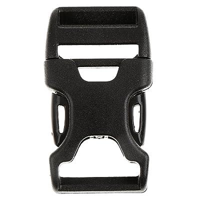 1pcs Boucle Sangle Fermoir Sac à Dos Bracelet Paracorde Noir 20mm