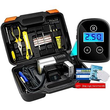 Compresor De Aire, Inflador De Neumáticos Digitales Automático Con Luces LED, 12V Portátil De