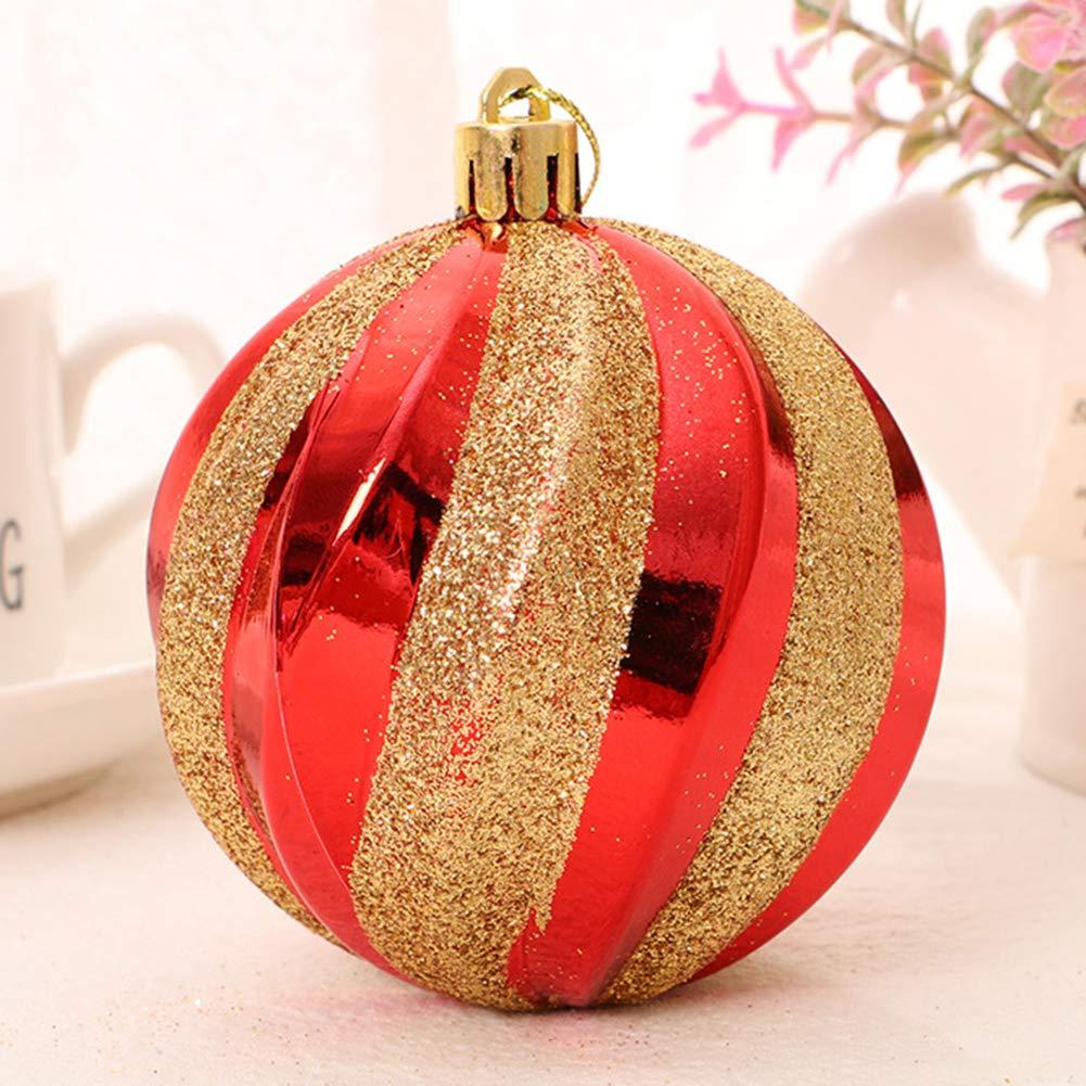 LPxdywlk 12 Piezas Bola De Navidad Hilo Bola Pintada /Árbol De Navidad Decoraci/ón Colgante Fiesta De Boda Decoraci/ón para El Hogar Azul Los 6cm