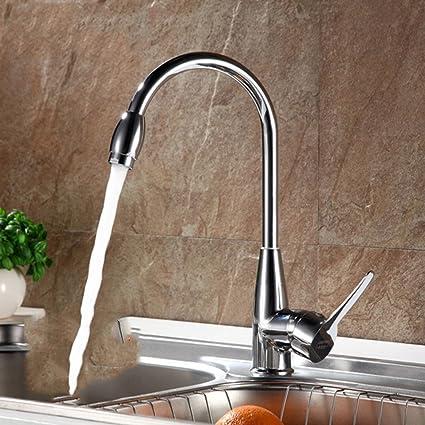 Kitchen faucet Single hole faucet High-bend vegetable basin faucet ...