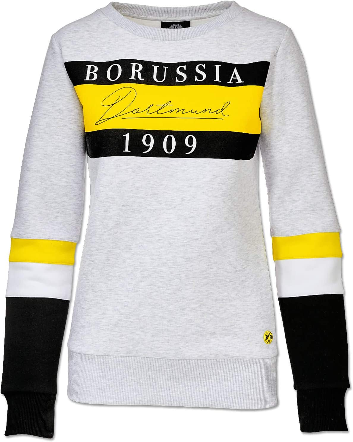 Borussia Dortmund BVB-Kapuzen-Sweatshirt mit Strass f/ür Frauen L