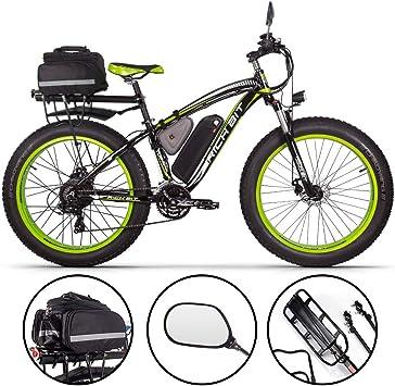 Unbekannt Bicicleta eléctrica Rich bit RT-022 ebike 1000W48V17A, LCD Smart MTB (edición Green Deluxe): Amazon.es: Deportes y aire libre