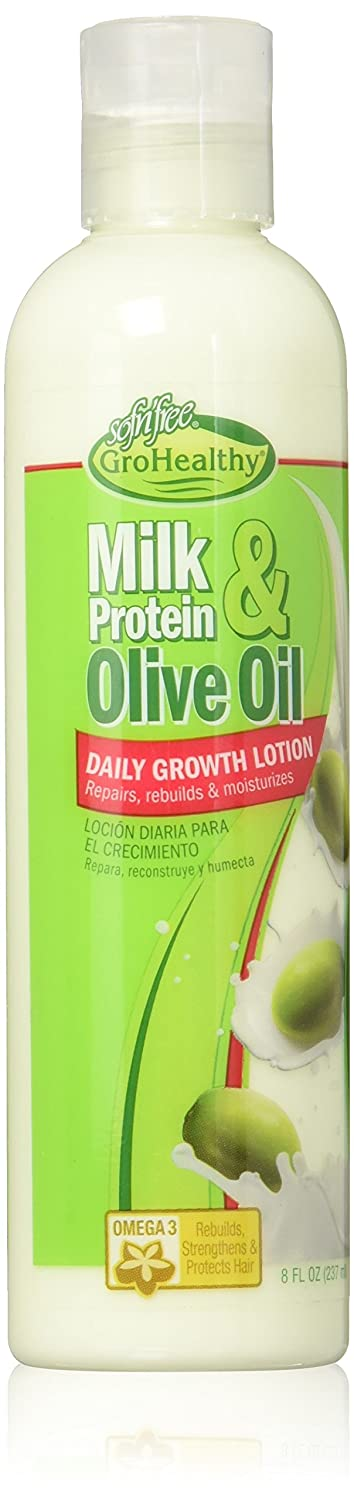 Milk Protein and Olive Oil Daily Growth Lotion, 8 Ounce Atlas Ethnic