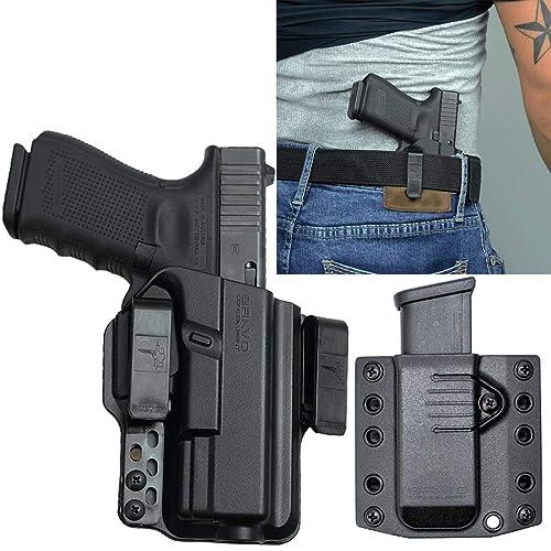 Bravo Concealment: Glock 19 19X 23 32, Glock 45, IWB Gun Holster + Free Mag Pouch