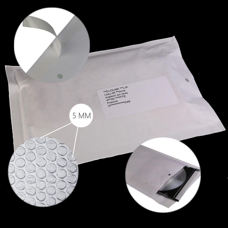 150x215 int. - 50 Lot de enveloppes /à bulles 13//C format 170x225 mm EKO-PAPIER