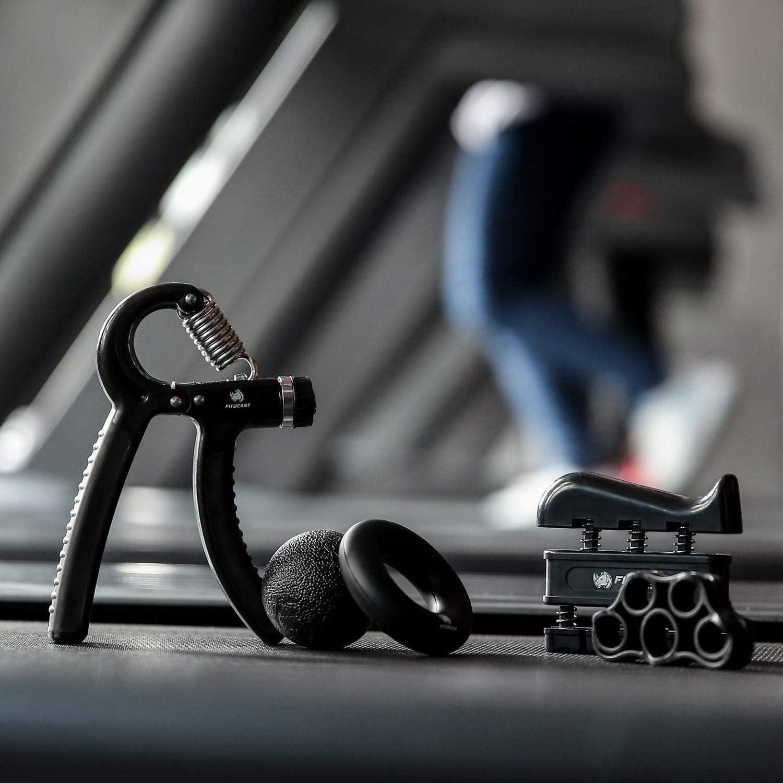 Handtrainer zur Kraftsteigerung Finger Trainingsger/ät Fitbeast verstellbarer Handtrainer Trainingsring /& Stressabbau-Griffkugel f/ür Sportler Unterarmgriff Trainingsset Fingerstretcher 5er-Pack