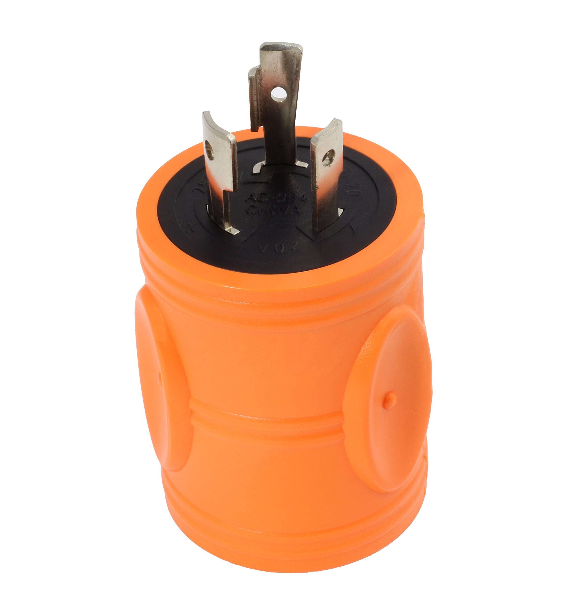 AC WORKS [ADL620620] NEMA L6-20P 20Amp 250Volt Locking Plug to NEMA 6-15/20R 15/20Amp 250Volt Female Connector Adapter by AC WORKS (Image #7)