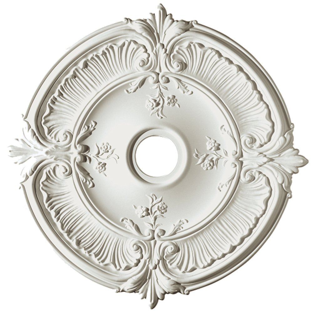 Amazon focal point 81031 31 inch acanthus medallion 30 14 amazon focal point 81031 31 inch acanthus medallion 30 14 inch by 30 14 inch inch by 1 12 inch primed white home improvement arubaitofo Images
