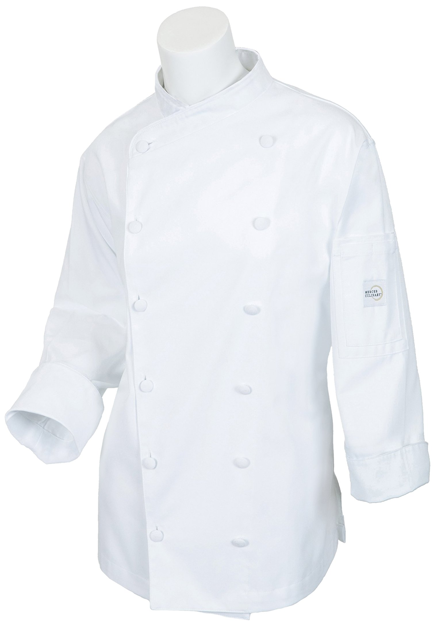 Mercer Culinary M62040WH3X Renaissance Women's Scoop Neck Chef Jacket, 3X-Large, White by Mercer Culinary