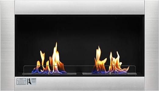 Amazon Com Antarctic Star 37 Fireplace Ventless Built In