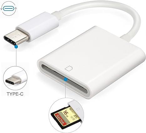Lector de tarjetas USB C SD, RayCue tipo C a tarjeta SD, adaptador ...