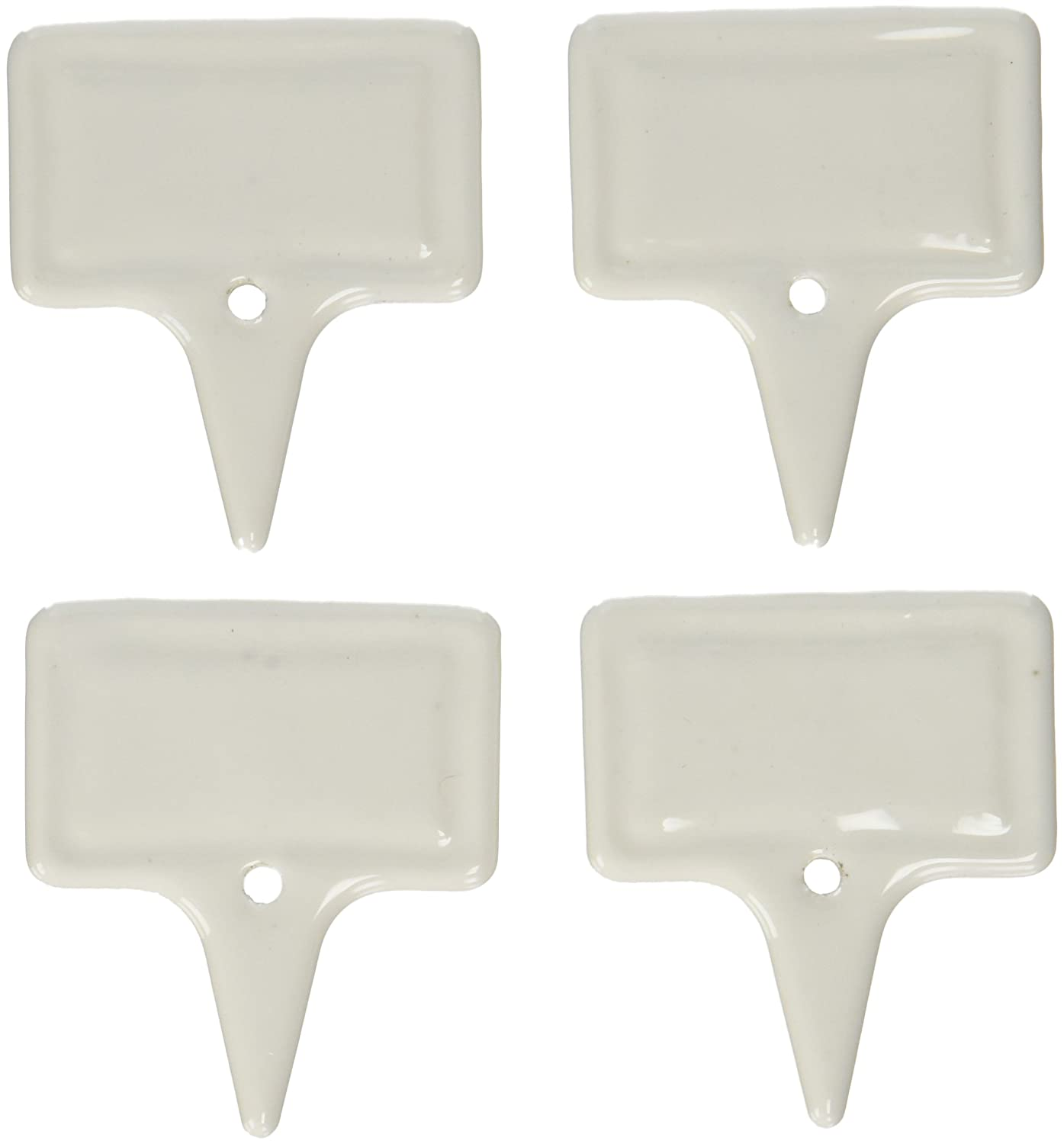 Twine 2409 1.9-Inch Country Cottage Ceramic Cheese Markers, White