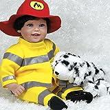 "Paradise Galleries Lifelike Realistic Reborn Like Toddler Doll Vinyl 18 inch Caucasian Boy Doll Gift ""My Hero & Blaze"""
