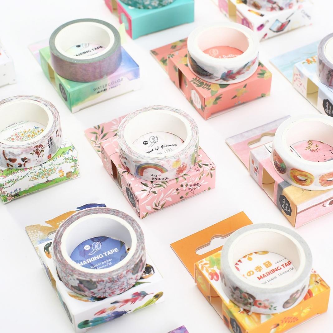 Sukisuki creative acquerello carta Washi DIY album diario decorativo scrapbook adesivi taglia unica 1#