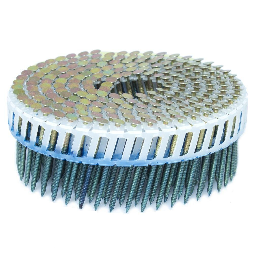 FASCO 1.75 in. x 0.092 in. 15-Degree Ring Galvanized Plastic Sheet Coil Siding Nail 3,200 per Box