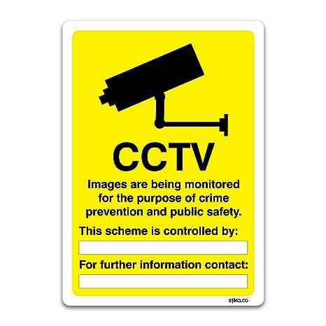 CCTV vigilancia información Sign – Vehículo y locales muestras por stika. co, vinilo,