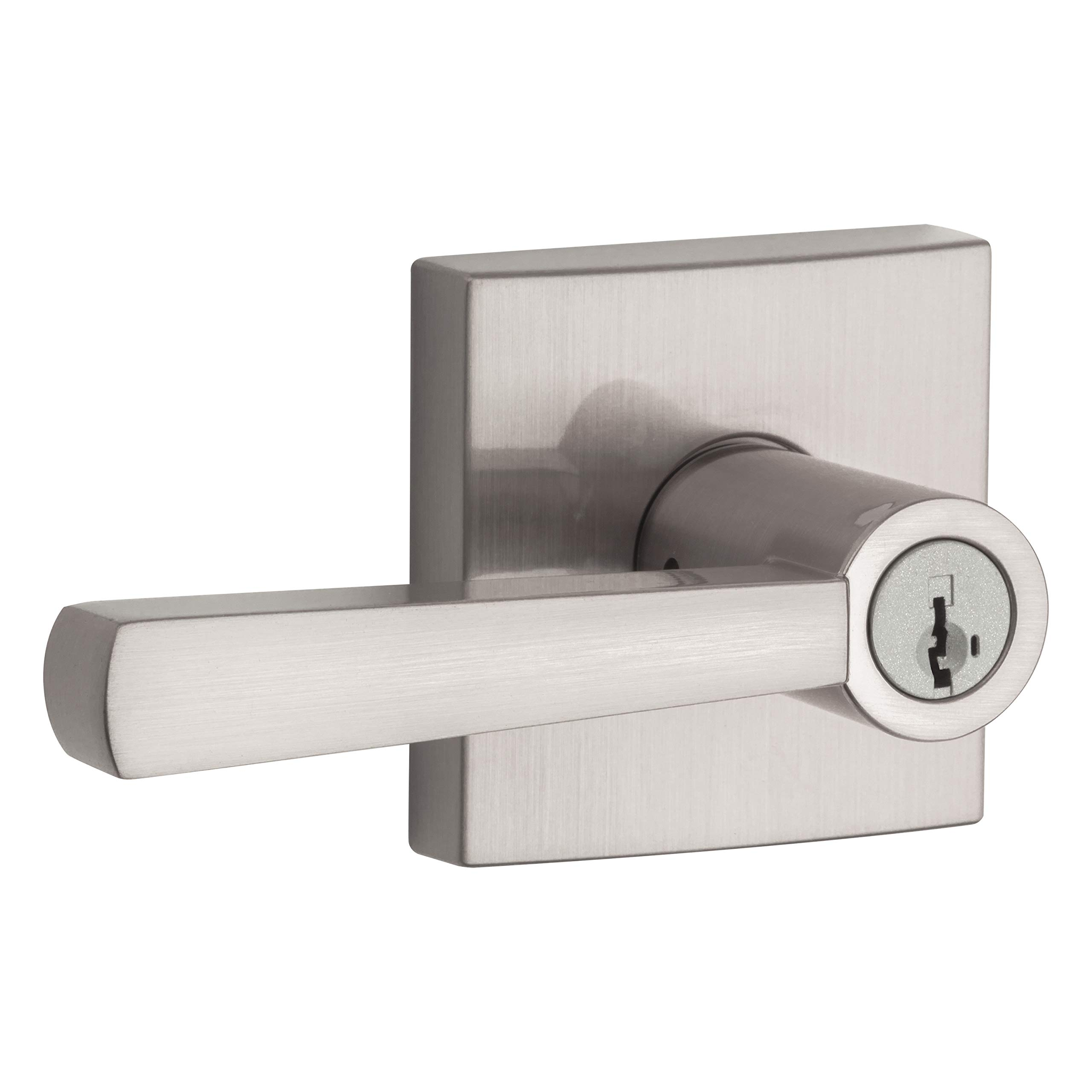 Baldwin Prestige Spyglass Entry Lever featuring SmartKey in Satin Nickel by Baldwin (Image #1)