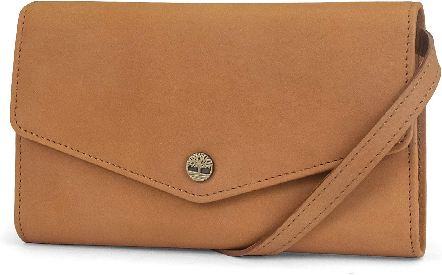 Timberland Women's RFID Leather Wallet Phone Bag with Detachable Crossbody Strap