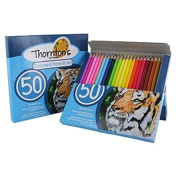 Amazon.com : Thornton\'s Art Supply Soft Core 50 Piece Artist Grade ...