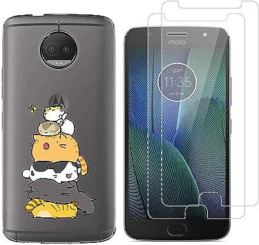 jrester Funda Motorola Moto G5S Plus,Gato apilado Flexible Suave ...