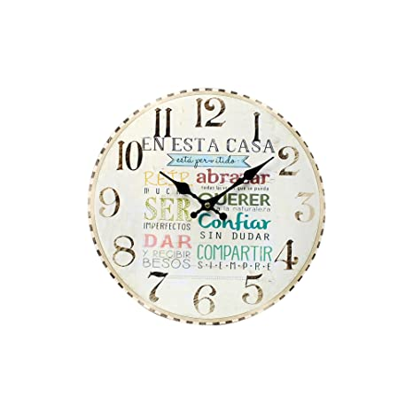 Sigris - Reloj Pared Mensajes 34 cm