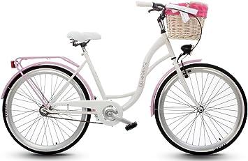 – Bicicleta para mujer cesta de bicicleta con rueda de 26 pulgadas ...