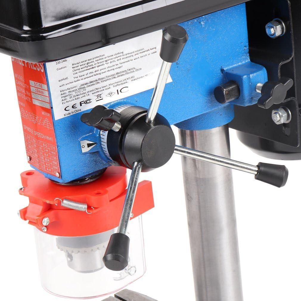 Poncherish Perceuse /à Colonne 500 W /à 9 Vitesses Industrielle Rotatif Perceuse Banc Mont/é Perceuse Mandrin Capacit/é 16mm ZJQ4116B EU Plug