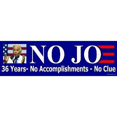 No Joe Bumper Sticker Ver. 3 - Anti Joe Biden Bumper Sticker - 36 Years, No Accomplishments - No Clue: Arts, Crafts & Sewing